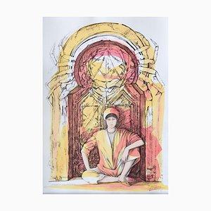 Andrea Quarto - Cancer - Hand-Colored Lithograph - 1985