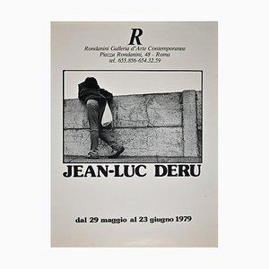 Jean-luc Deru - Vintage Poster of Jean-Luc Deru's Exhibition at Galleria Rondanini - 1979