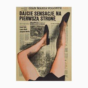 Sorka - Dajcie Sensacje Na Pierwsza Strone Vintage Poster - Offset Print - 1974