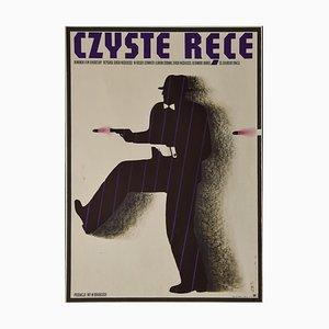 M. Wasilewski - Clean Hands Vintage Poster - Offsetdruck - 1974