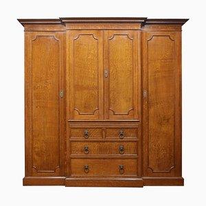 Oak 4-Door Breakfront Compact Wardrobe