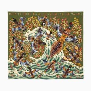 the Wave la Vague Wandteppich von René Perrot