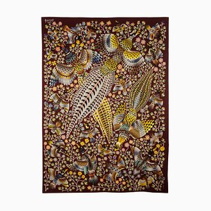 Three Pheasants Tapestry by René Perrot