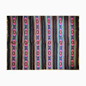 Handgefertigter runder rumänischer Vintage Teppich aus Wolle