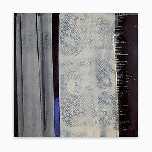 Blaue Linie und Sterne, (Abstrakte Malerei), 2016