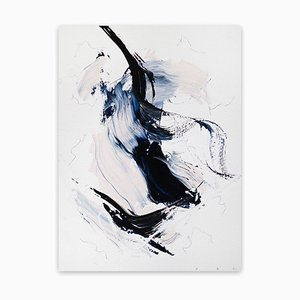 Blue Velvet 13, (Abstract Abstract Work on Paper), 2020