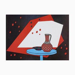 Patrick Caulfield, Stillleben in Rot & Weiß, 1966