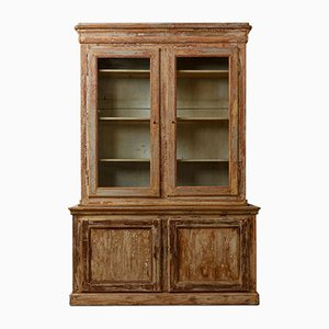 19th-Century French Glazed Cabinet