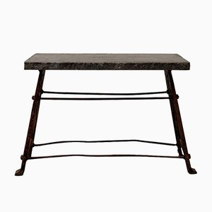 Antique Belgian Bluestone Workbench
