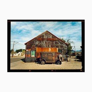 Model T and Garage, Daggett, California - Color Photograph, 2003