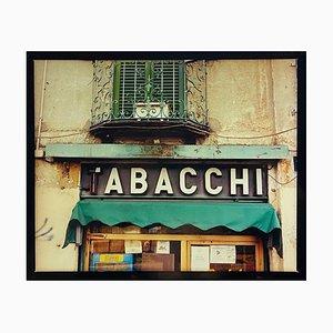 Tabacchi Sign, Milan, Architektonische Farbfotografie, 2019