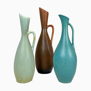 Mid-Century Vases by Carl Harry Stålhane & Gunnar Nylund for Rörstrand, Sweden, 1950s, Set of 3