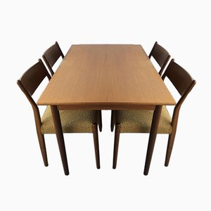 Vintage Rosewood Dining Table & Chair Set by Cees Braakman for Fristho