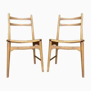 Mid-Century Teak Desk Chairs, 1960s, Set of 2