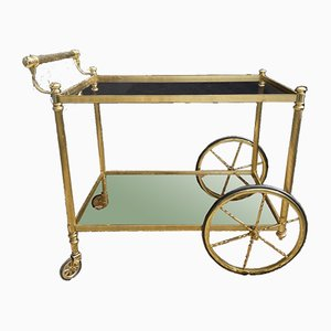 French Hollywood Regency Drinks Cocktail Trolley Cart