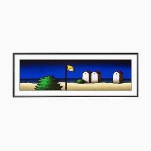 Colored Screenprint, Tino Stefanoni, Beach and Flag, 2000