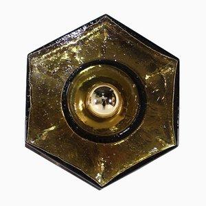 Lampade da parete in vetro ambrato di Barovier & Toso, set di 2