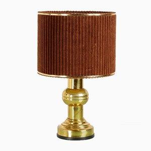 Lampada da tavolo con cornice in ottone