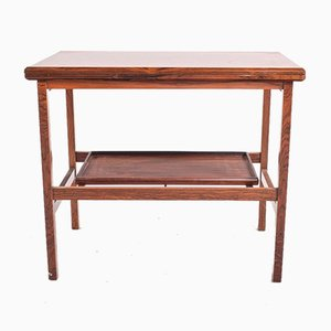 Danish Modern Rosewood Flip-Top Tea Trolley by Grete Jalk for Poul Jeppesens Møbelfabrik, 1960s