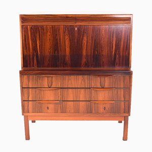 Danish Rosewood Secretaire by Erling Torvits for Klim Mobelfabrik, 1960s
