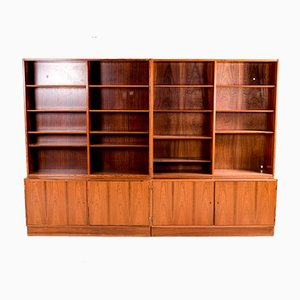 Danish Modern Rosewood Bookcase Unit, 1960s, Set of 2