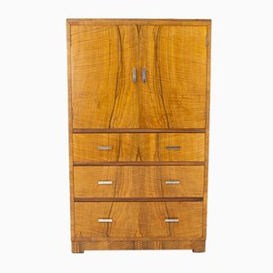 Art Deco Walnut Chest of Drawers from Heal's, 1920s