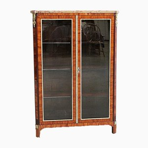 Small Louis XVI Blond Mahogany Veneered Display Case, 18th Century