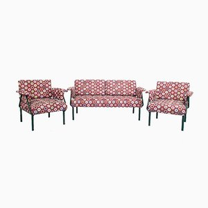 Vintage Fabric Sofa & Armchairs by Paolo Piva, 1970s, Set of 3