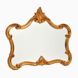 Italienischer Mid-Century Spiegel mit vergoldetem Holzrahmen