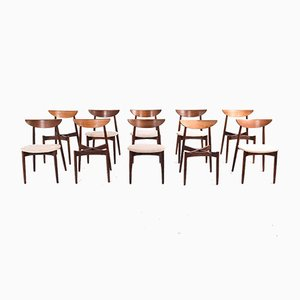 Rosewood Dining Chairs by Harry Østergaard for Randers Møbelfabrik, 1950s, Set of 10