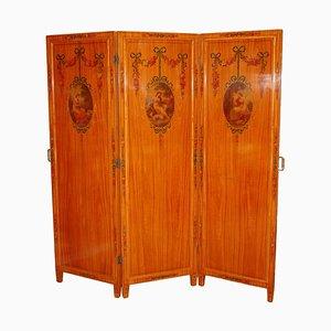 Antiker Raumteiler mit Spiegeln & mehrfarbigen Dekorationen
