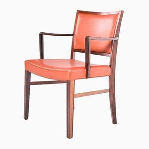 Scrivania e sedia in palissandro di Ole Wanscher per AJ Iversen, anni '50, set di 2