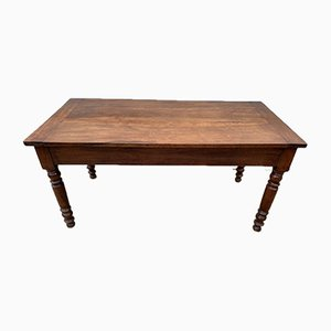 Solid Cherry Farmhouse Dining Table, 1950s
