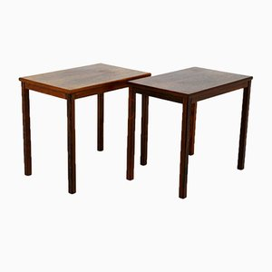 Swedish Rosewood Side Tables, 1960s, Set of 2