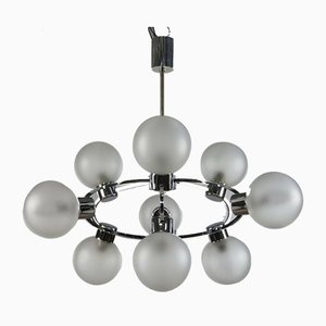Glaskugel Sputnik Hängelampe, 1970er