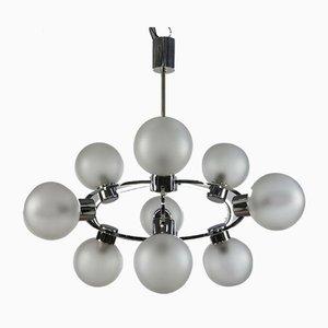 Glass Ball Sputnik Pendant Lamp, 1970s