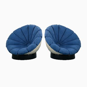 Vintage Sunflower Lounge Chairs by Luciano Frigerio, 1960s, Set of 2
