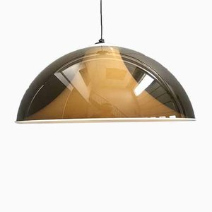 Italian Brown Acrylic Pendant Lamp from Martinelli Luce, 1960s
