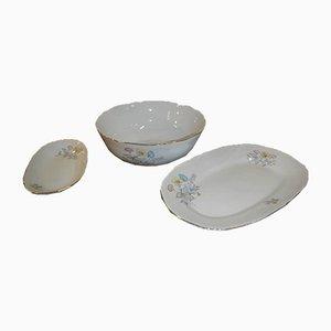 Vajilla italiana de porcelana de Richard Ginori para Ariston, años 50. Juego de 15