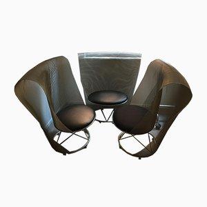 Vintage Prototype Lounge Chairs by Shiro Kuramata, Set of 3