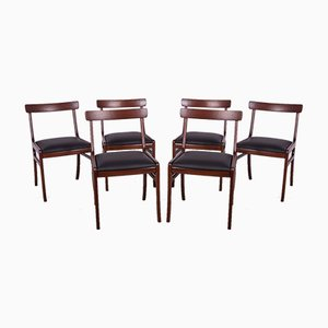 Dänische Palisander Esszimmerstühle von Ole Wanscher für Poul Jeppesens Møbelfabrik, 1960er, 6er Set