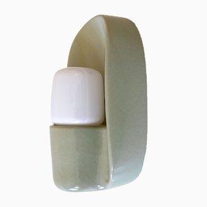 Applique 6460 Systral in ceramica di Wilhelm Wagenfeld per Lindner, anni '70