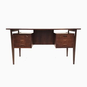 Danish Rosewood Desk with Floating Top, 1960s