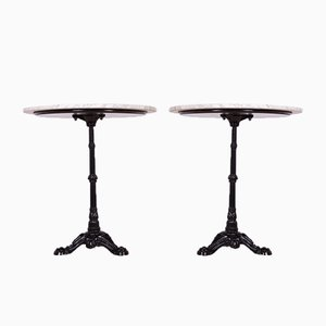 Art Nouveau Cast Iron & Marble Pedestal Table, 1920s