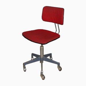 Sedia da scrivania girevole con altezza regolabile, anni '70