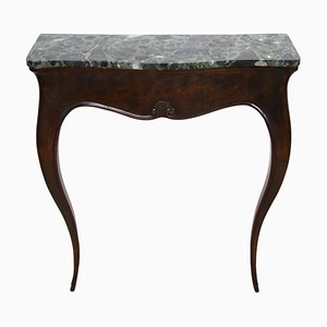 Small Italian Console Table with Marble Top, 1920s