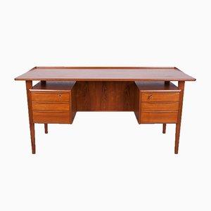Freestanding Teak Desk by Peter Løvig Nielsen, 1960s