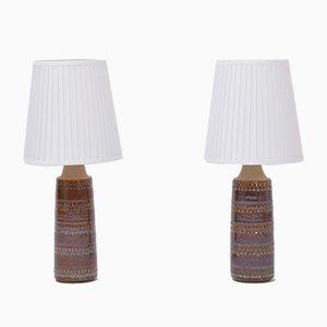 Lampes de Bureau Artisanales en Céramique de Søholm, Danemark, 1960s, Set de 2