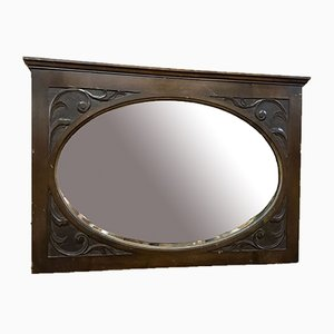 Specchio vintage con cornice smussata, Regno Unito, anni '50