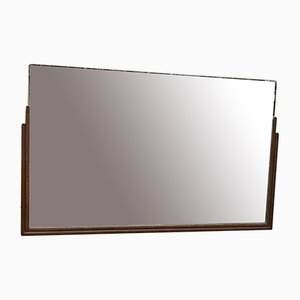 Art Deco Teak Mirror, 1930s